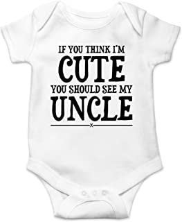 AW Fashions I'm Cute You Shuld See My Uncle - Funny Wingman - Cute One-Piece Infant Baby Bodysuit