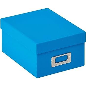 The Photo Album Company ALBOX57BLUE - Caja de almacenamiento para 700 fotografías de 13 x 18 cm, color azul: Amazon.es: Oficina y papelería