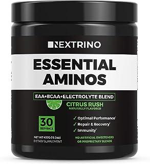 Nextrino Essential Aminos EAA Supplement - Transparent Ingredients, Complete EAA & BCAA Essential Amino Acid Powder Drink ...