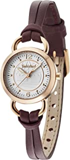 Timberland Women's White Dial Leather Band Watch - TBL15269LSR-01A
