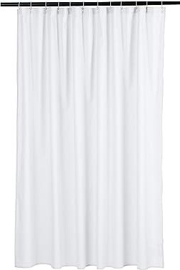 AmazonBasics Waffle Texture Shower Curtain - 72 Inch, White