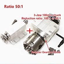 Rotational 4th Axis A aixs Rotary table Fourth axis 3 Jaw Chuck Gapless harmonic reducer gearbox stepper motor K11-100mm dividing head with 65mm Tailstock for CNC Router Engraving Milling Machine