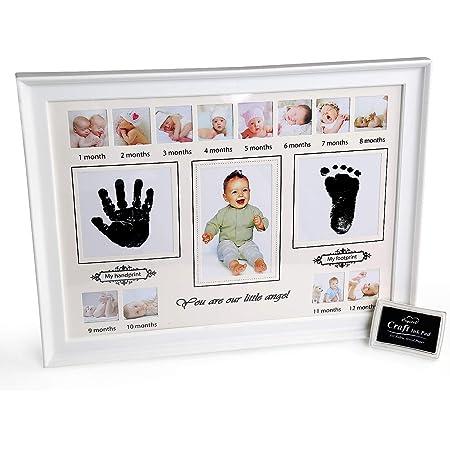 Argent Hugs /& Plus Bébé Cadre Photo avec la naissance Record Cadeau