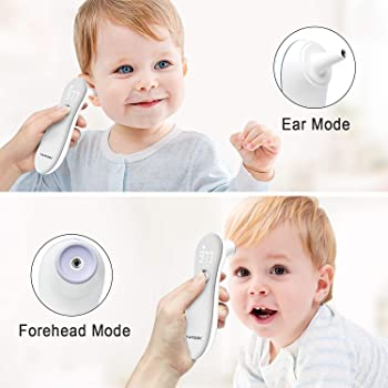 Forehead Thermometer - Digital Medical Thermometer for Fever -Ear Thermometer -Instant Accurate Reading Temporal Thermometer - for Baby,Adult by Famidoc