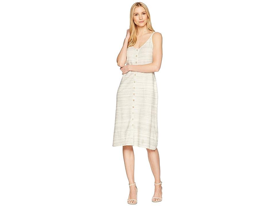 Lucky Brand Button Up Knit Dress (Natural Multi) Women