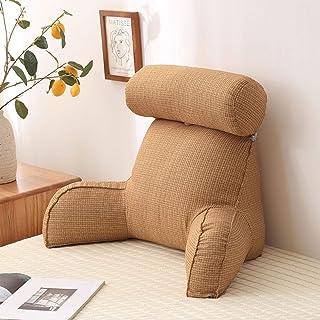Almohada de lectura de reposo en cama | Almohada suave para lectura y reposo en cama con reposabrazos y rollos para el cuello, cojín de respaldo desmontable para leers/relajarse/TV