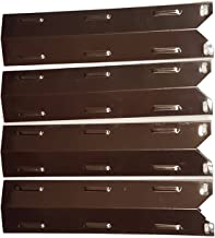 Set of Four Stainless Steel Heat Plate Replacements for Gas Grill Models Charbroil 640-01303702-3 and Kenmore 146.16222010