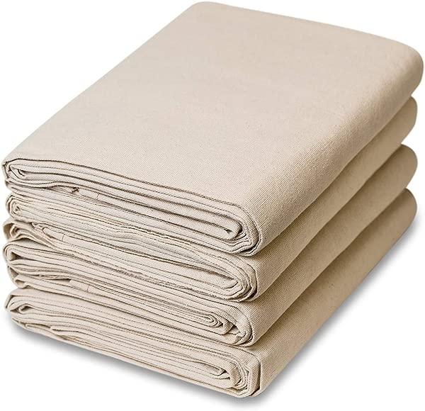 6 Piece Set All Purpose Canvas Cotton Drop Cloth 9 Feet X 12 Feet