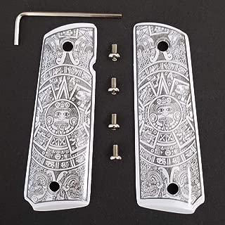 Tek_Tactical 1911 Grips Aztec Calendar 1911 Full Size Grips Ivory Colt Checkered Grips W Ambi Cut
