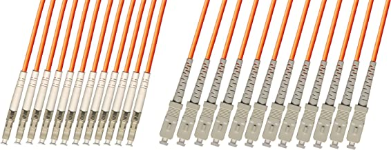 RiteAV - Direct Burial/Outdoor LC-SC 12-Strand Fiber Optic Cable - Multimode (50/125) - 10M