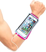 Armband for iPhone 11 Pro Max, XS Max - Running Case - iPhone 11, XR, 8, 7 Plus, Note 10,9, Edge + Android - Zip Pocket Key Holder - Touch Screen - Earphone Access - Wristband Stretches to Fit Forearm