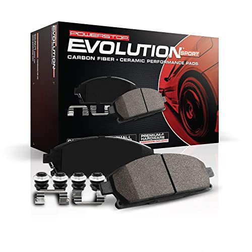 Power Stop Z23-1602, Z23 Evolution Sport Carbon-Fiber Ceramic Rear Brake Pads