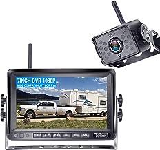 $139 » DoHonest FHD 1080P Digital Wireless Backup Camera Kit Built in DVR 7'' Monitor Support Split Screen Highway Observation Sy...