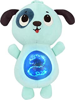 Battat – Twinkle Tummies Dog– Soothing Plush Animal for Infants with Glowing Tummy & Six Lullabies