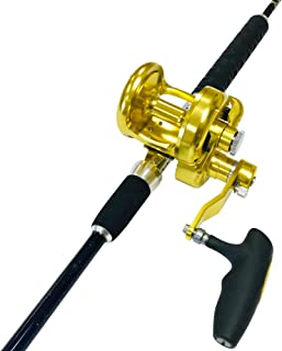 EatMyTackle Amberjack King Saltwater Jigging Rod and Reel Combo
