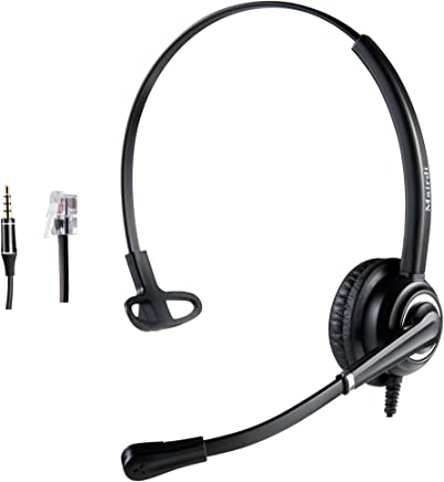 $36 Get Cisco Headset Telephone Headset RJ9 with Noise Cancelling Microphone Jabra Compatible Plus Extra 3.5mm Connector