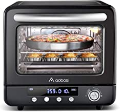 Air Fryer Oven Aobosi Electric Toaster Oven Convection Rotisserie Oven Roaster Countertop Rotisserie Oven Steam Oven Multi-Function 12-in-1 Toast/Bake/AirFry/Dehydrate/Roast/pizza|21Qt|Recipe 1250W