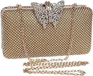 Shoulder Bag Women's Diamond Handbag Shoulder Bag Clutch Purse Night Dress Evening Bag Handbag Clutch (Color : Gold)