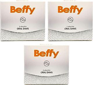 Beffy - Latex lekdoek/lekdoek - meer veiligheid tijdens het oraal verkeer - 3-pack (3 x 2 doekjes)