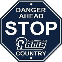 لافتة إيقاف بلاستيكية بشعار Fremont Die NFL Los Angeles Rams للجنسين NFL من البلاستيك، كحلي، مقاس واحد