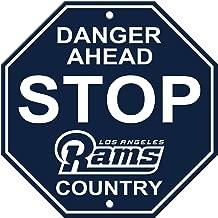 Fremont Die NFL Los Angeles Rams Unisex NFL Plastic Stop Signnfl Plastic Stop Sign, Navy, One Size