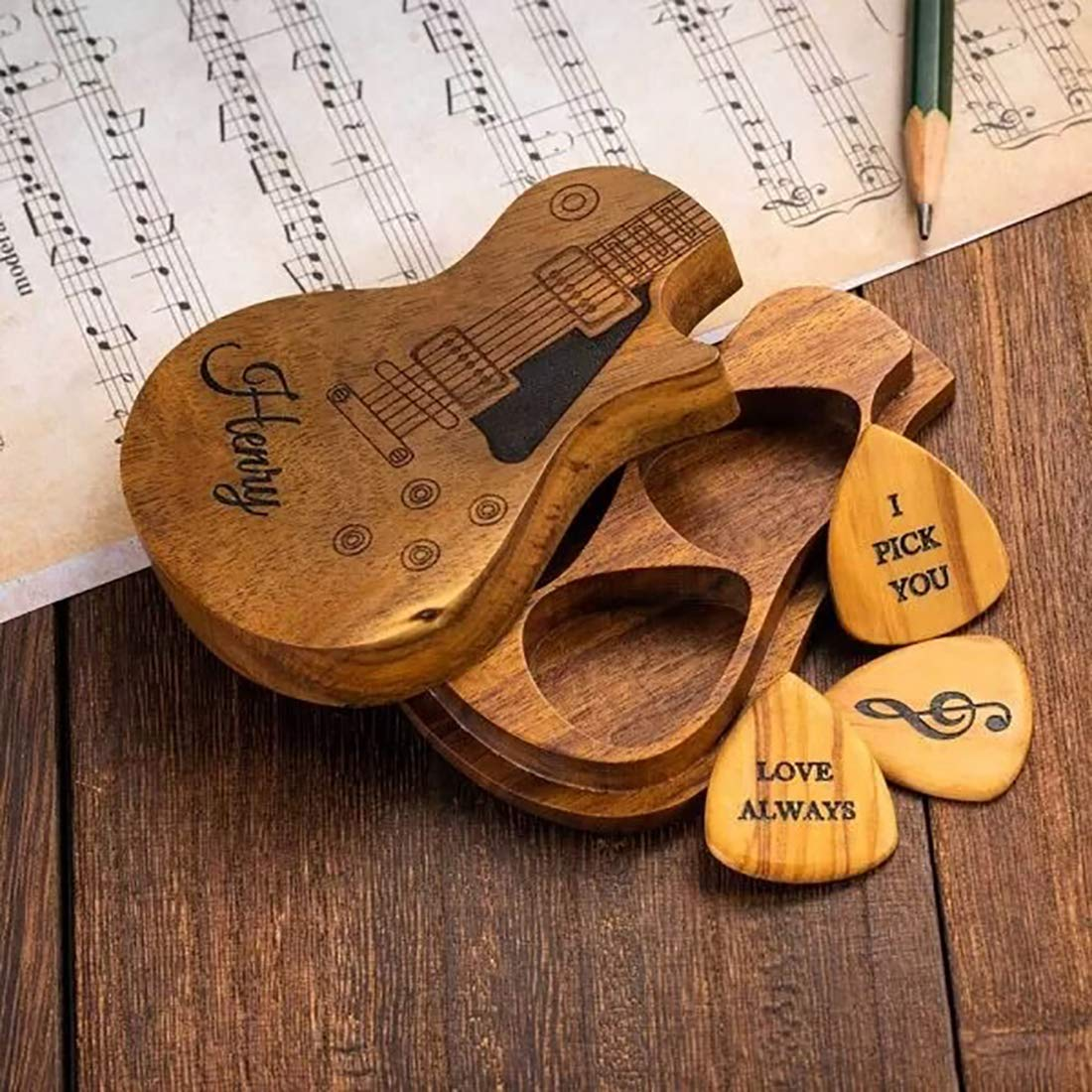Customizable Guitar Pick Holder Three Personalized Manufacturer regenerated Max 86% OFF product Picks,Ph