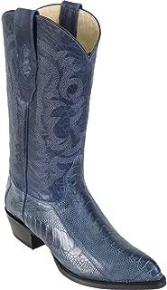 Original Blue Jeans Ostrich Leg LeatherJ-Toe Boot