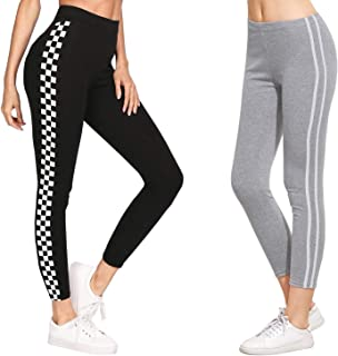 DTR FASHION Women's Side Stripped Jegging_Jogger pant For Women_Black_Combo Pack of 2_COMBOPACK_J29