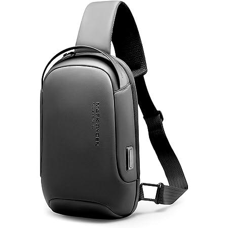 MARK RYDEN bolso bandolera hombre, impermeable bolso cruzado hombre, antirrobo, compatible con iPad 9.7 de Viaje para los Estudios, Viajes o Trabajo Diario-Gris