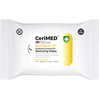 CeriMED Surface Disinfecting Wipes with Quat Ammonia Compound - 80 Wipes