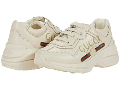 Gucci Kids Rhyton Logo Leather Sneaker (Toddler) Kid
