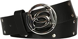 Women's Designer Fashion Belt with Logo Buckle