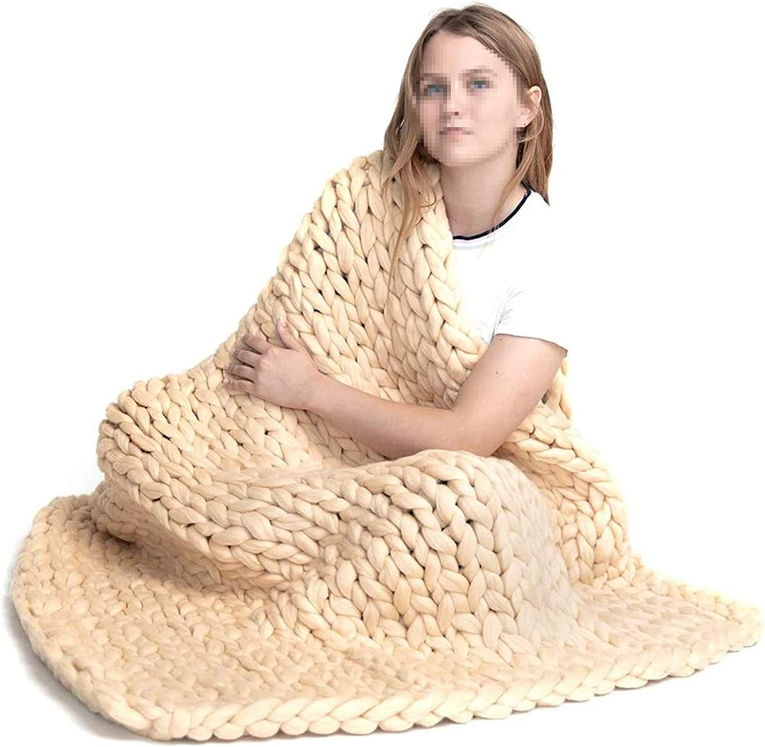 LICHUXIN Cable Chunky Hand Knit It is very popular Blanket New product Accent Throw Cab