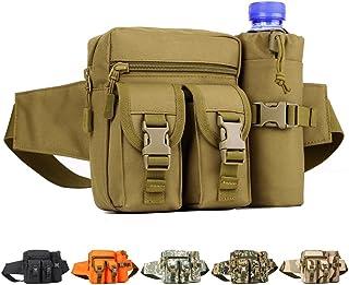 YUHAN Vandring midjeväskor utomhus taktisk midjeväska vattenflaska fickhållare Molle höftbältesväska