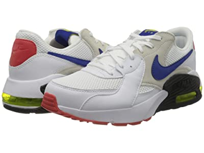 Nike Air Max Excee (White/Hyper Blue/Bright Cactus/Track Red) Men