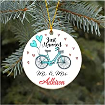 First Christmas as Mr & Mrs Adkison Our First Christmas Ornament Just Married Wedding Christmas Ornament 2019 Rustic 1st Year Married Newlyweds Present for Newlywed 3