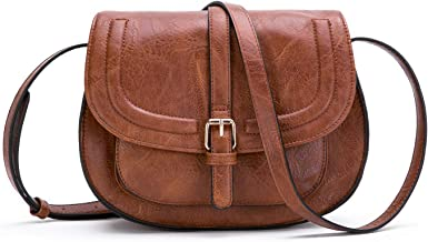 Women Crossbody Satchel Bag Small Saddle Purse and Tote Shoulder Handbags