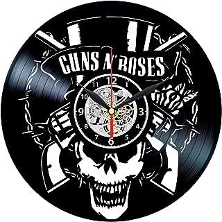 Guns N Roses Vinyl Clock - Vintage Record Wall Decor - Rock Band Themed Gifts