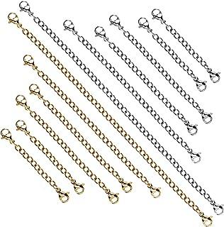 SUPVOX 3 pezzi catena estensore gioielli collana moschettone e chiusure per collana braccialetto produzione gioielli oro