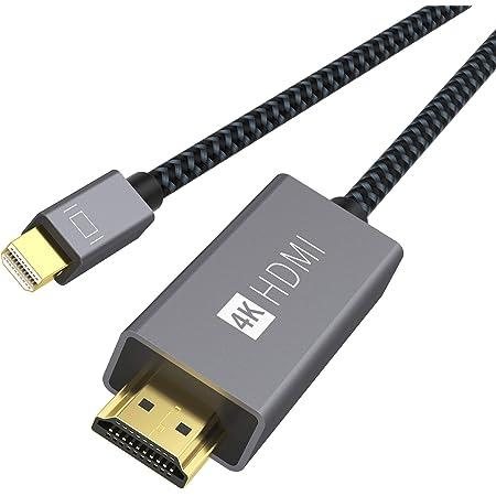 iVANKY Cavo Mini DisplayPort a HDMI (4K@60Hz) Nylon Intrecciato, Cavo Thunderbolt a HDMI per Surface Pro, computer portatile, HDTV, proiettore - 2 metri