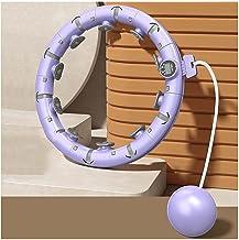 YPLDM Smart Hula Hoop past de grootte aan, auto-draaiende hoepel teller om beweging baan op te nemen, fitness ring met 360...