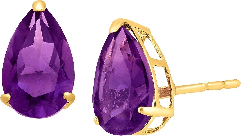 Pear-Cut Gemstone Stud Earrings in Large-scale sale NEW 10K Gold