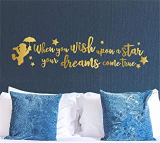 Poars Wall Stickers Art Decor Decals When You Wish Upon A Star Your Dreams Comes True for Nursery Kids Room