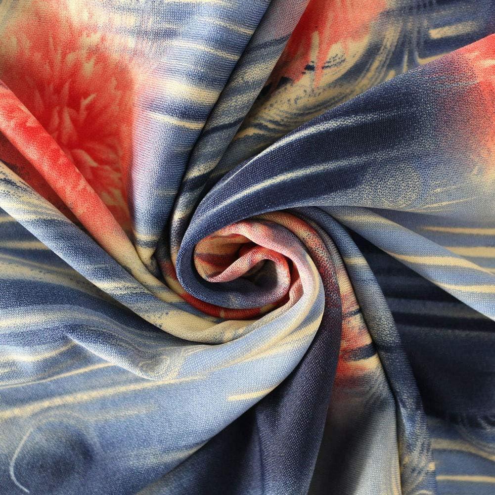 CHARTOU Women's Lightweight High Waist Drawstring Printed Fold Over Maxi Wrap Skirt