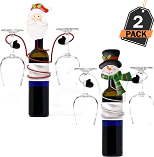 Scale Rank 2 Piece Deluxe Wine Glass Holder Set, for Christmas Home and Office, Perfect for Everyone