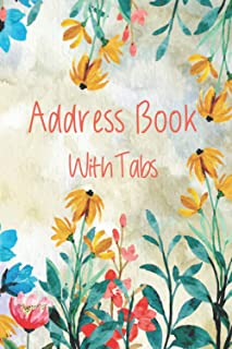 Address Book With Tabs: A5 Address Book with Tabs,address book with alphabetical tabs,Address Book A-Z Alphabetical Tabs