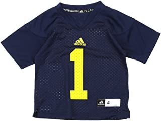 adidas NCAA Kids Little Boys Michigan Wolverines #1 Football Jersey, Small (4)