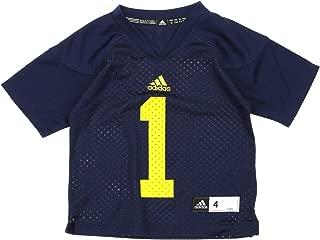 adidas NCAA Kids Little Boys Michigan Wolverines #1 Football Jersey, Small (4)