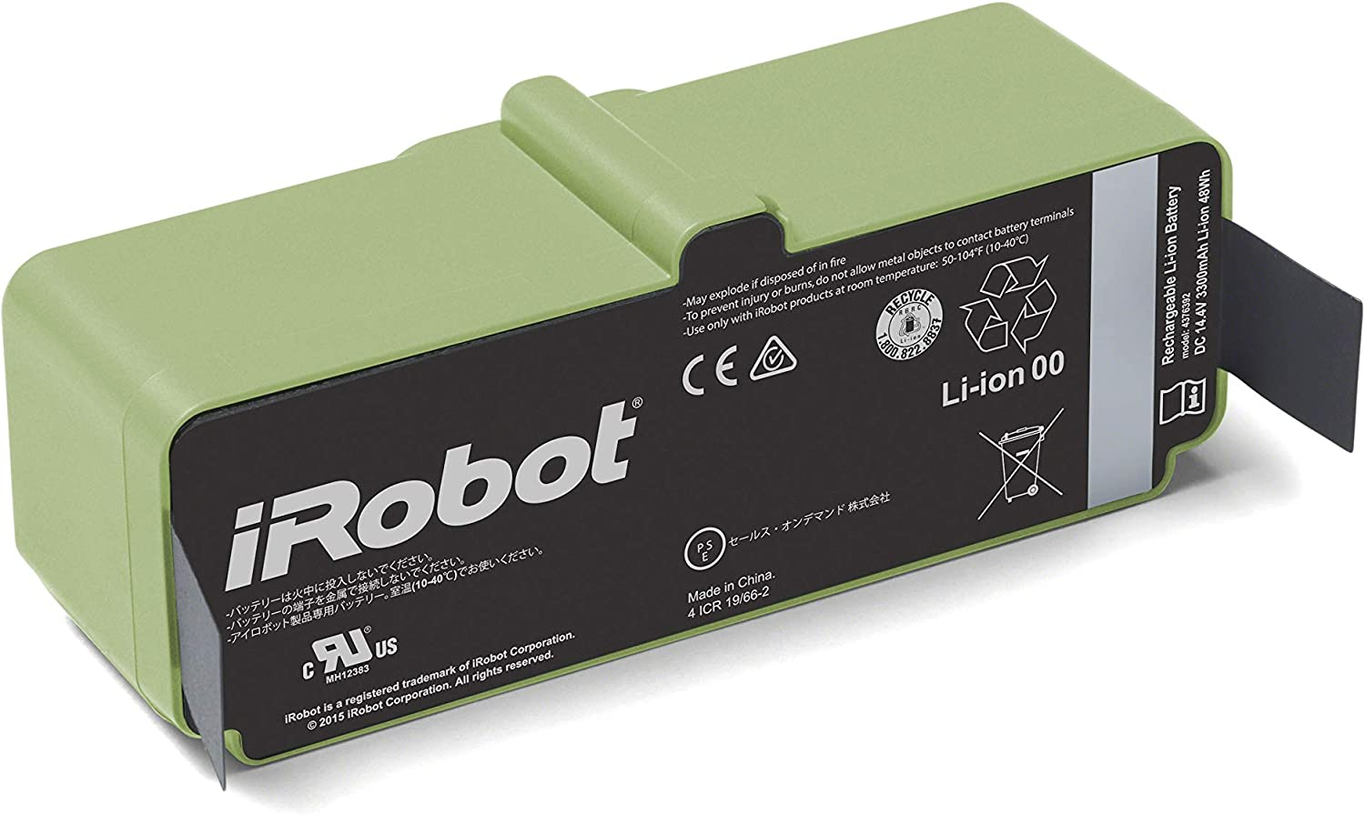 iRobot Lithium-ion Ranking TOP5 Battery Direct sale of manufacturer Green Black
