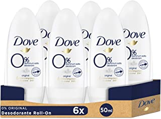 Dove Original, Desodorante 0% aluminio - 6 de 50 ml. (Total: 300 ml.)
